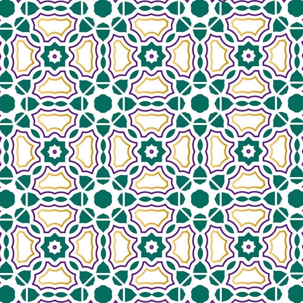 padrão de design islâmico ou escandinavo vetor