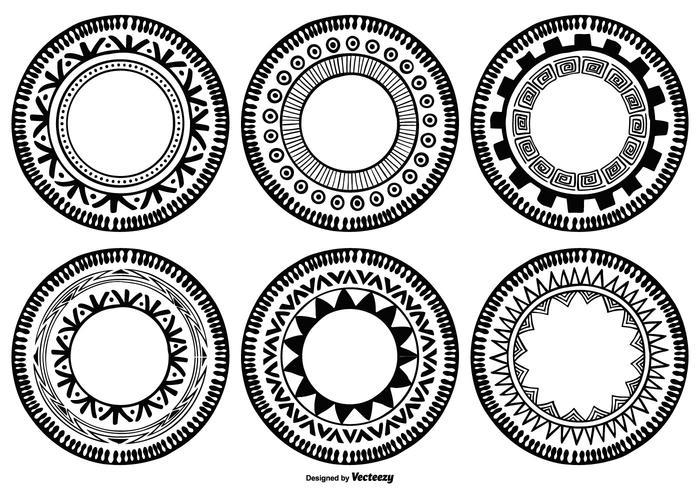 Formas de círculo estilo boho vetor