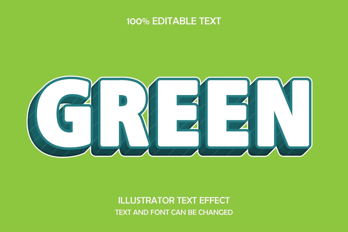efeito de texto editável moderno verde vetor