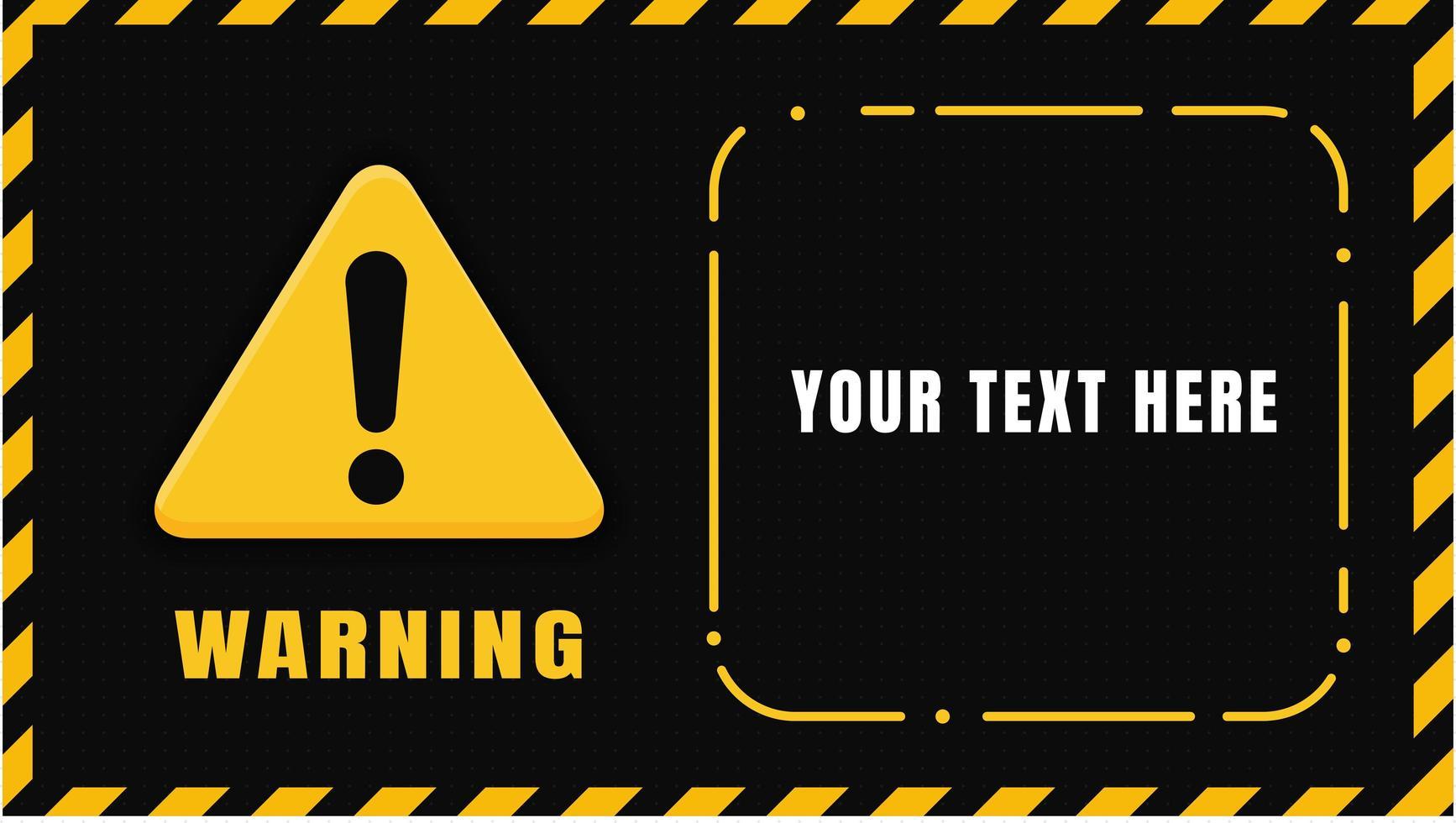 sinal de aviso preto amarelo vetor