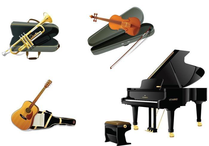 Pacote de vetores de instrumentos realistas