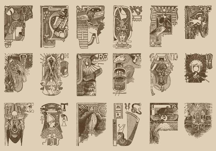 Ornamentos egípcios vetor