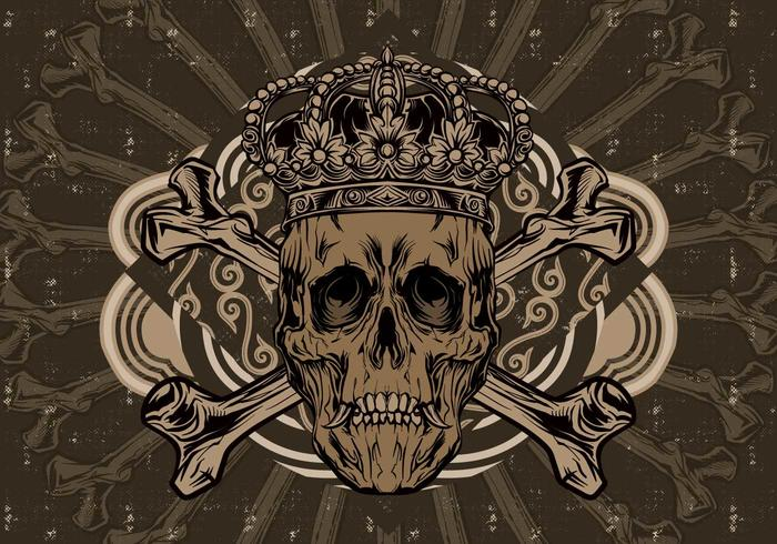 Vetor crânio da coroa