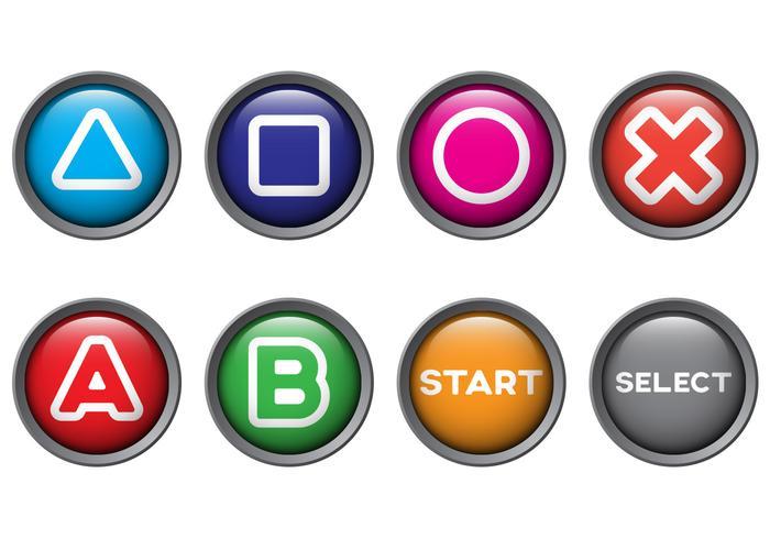 Vetores grátis do botão Arcade
