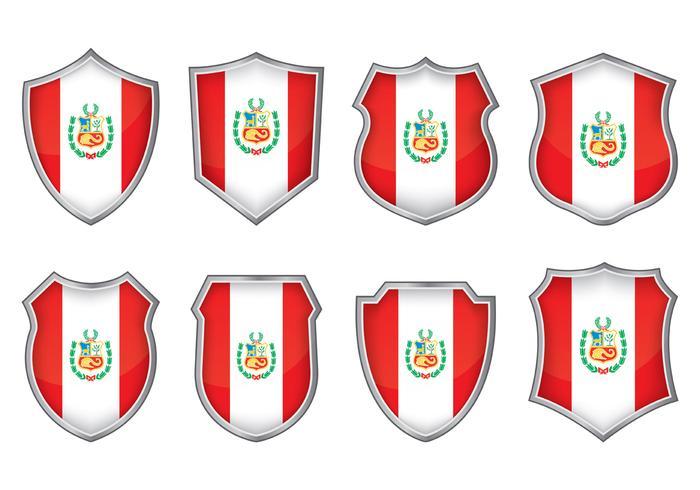 Vetores do emblema da bandeira de peru