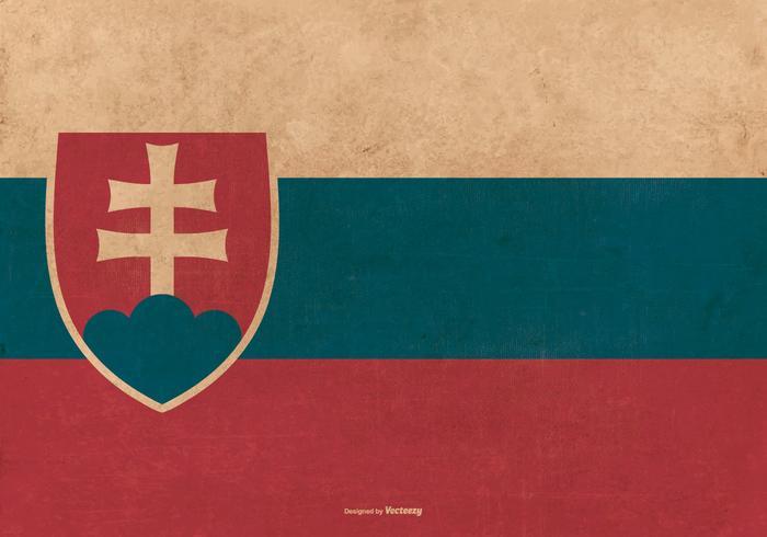 Bandeira do Grunge da Eslováquia vetor