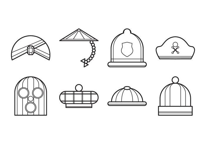 Vetor de ícone de chapéu grátis