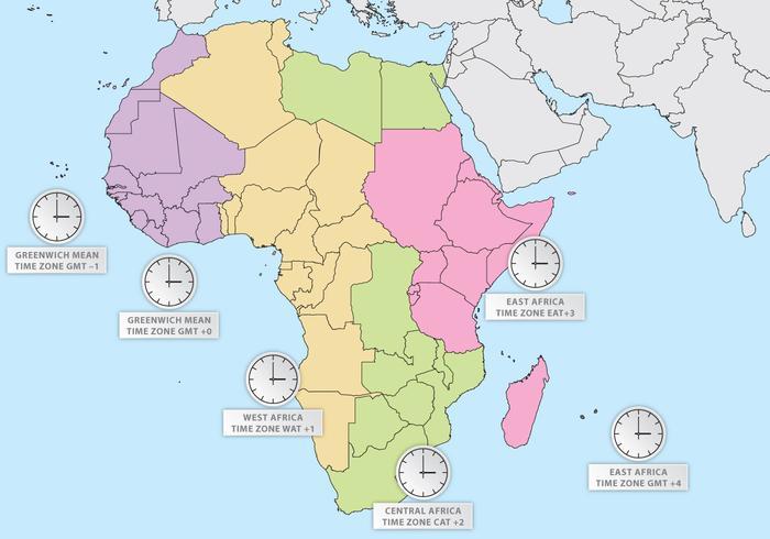 Fuso horário de África vetor