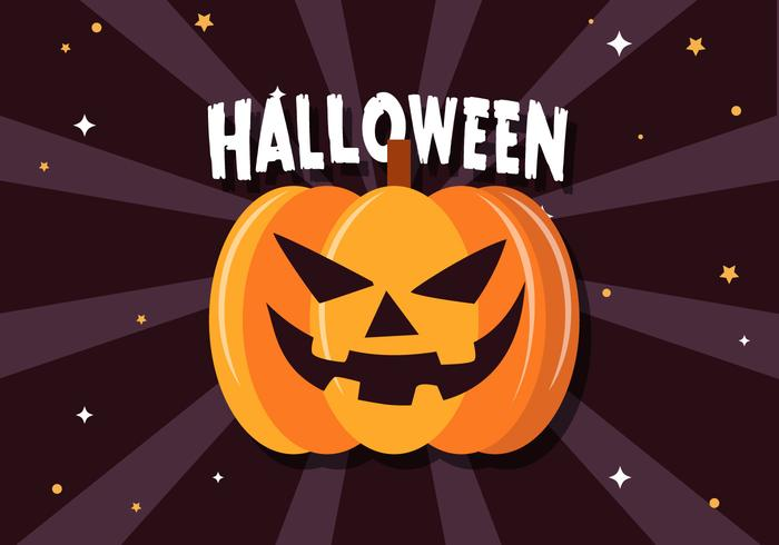 Livre Scary Halloween Pumpkin Vector