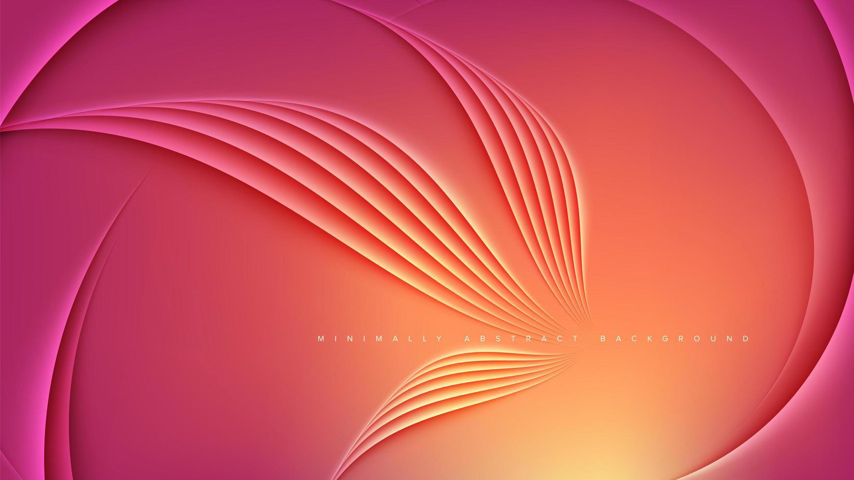 modelo de design abstrato em laranja vetor