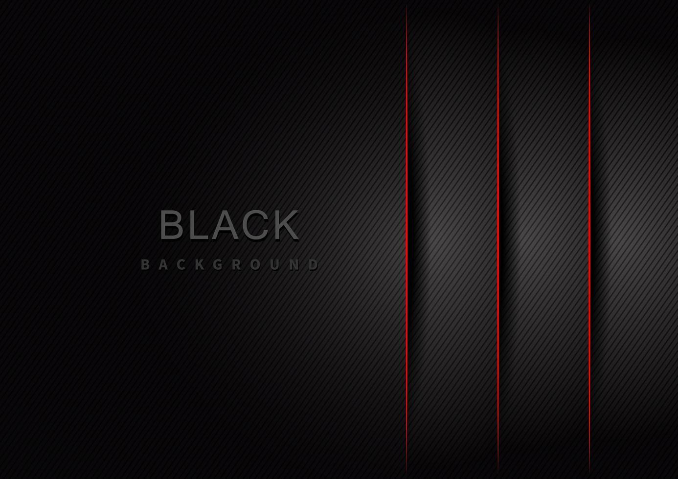 camadas gradientes pretas e cinza listradas com sombras e borda vermelha vetor