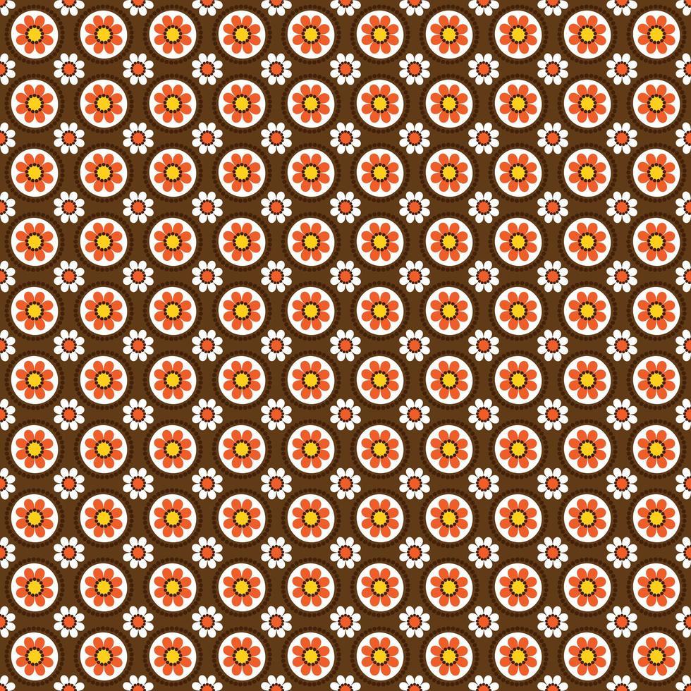 padrão floral circular de estilo mod vetor