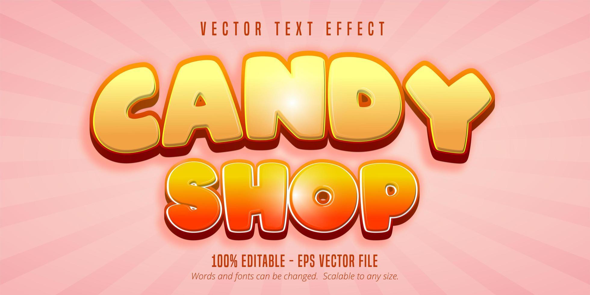 texto de loja de doces vetor