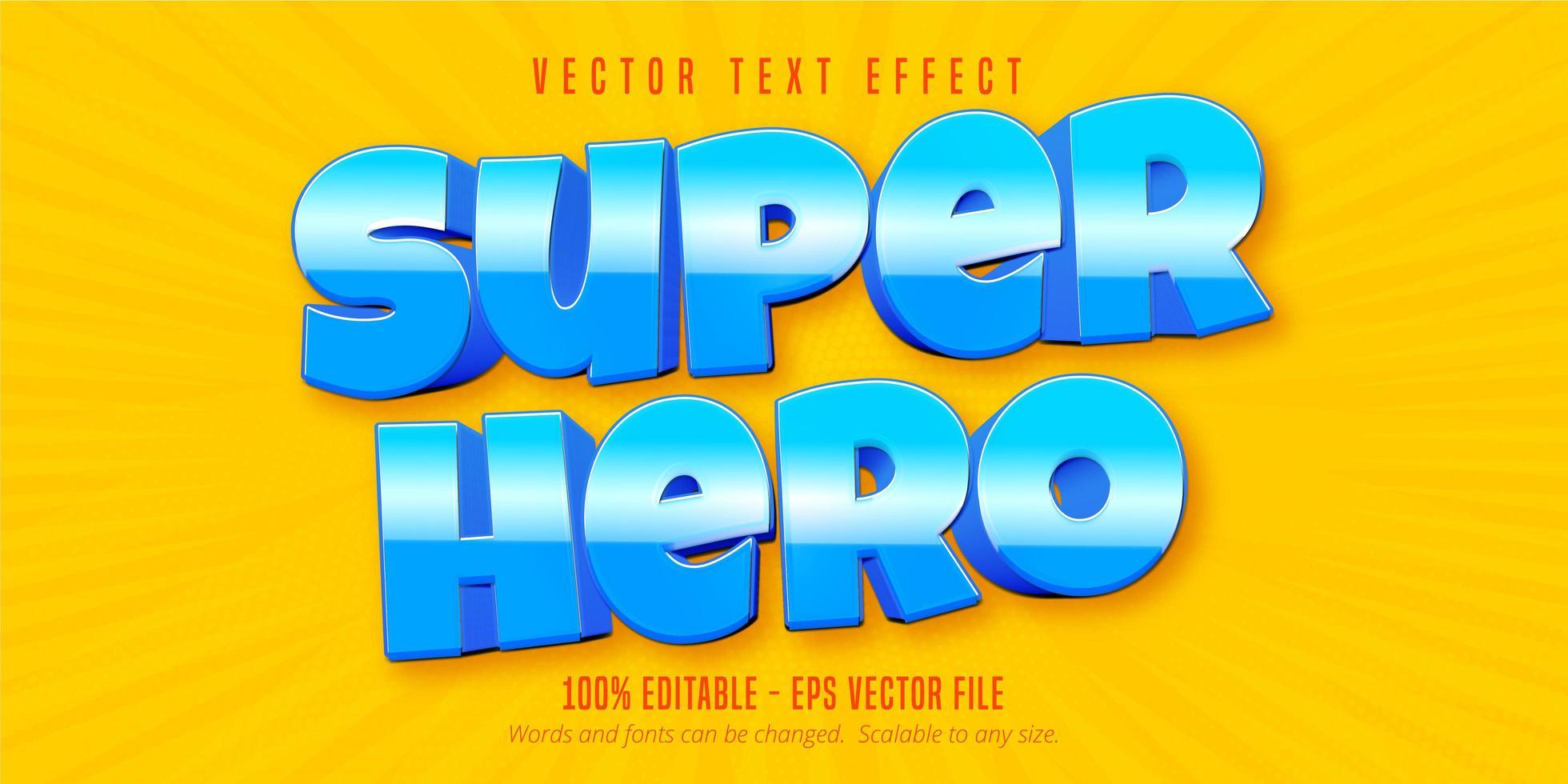 texto em negrito super-herói vetor