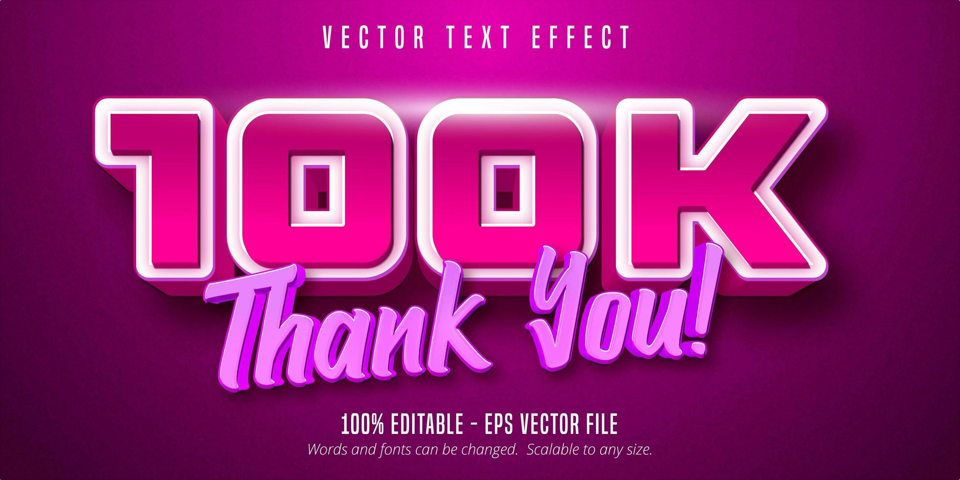 obrigado 100k texto vetor
