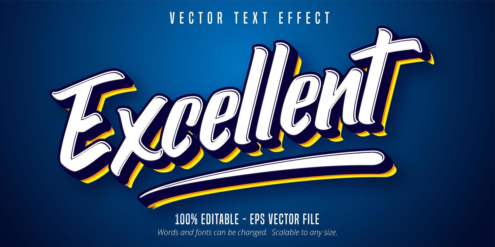 excelente efeito de texto de script vetor