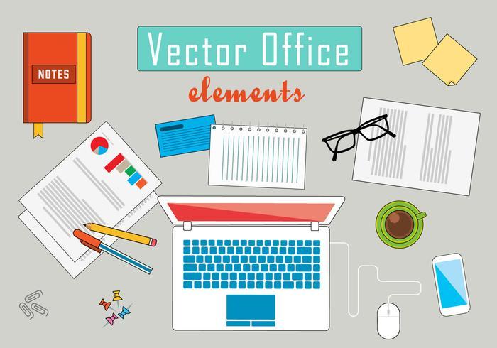 Ilustração de vetor de escritório de negócios grátis