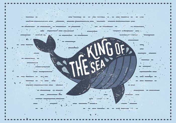 Ilustração do vetor da baleia vintage