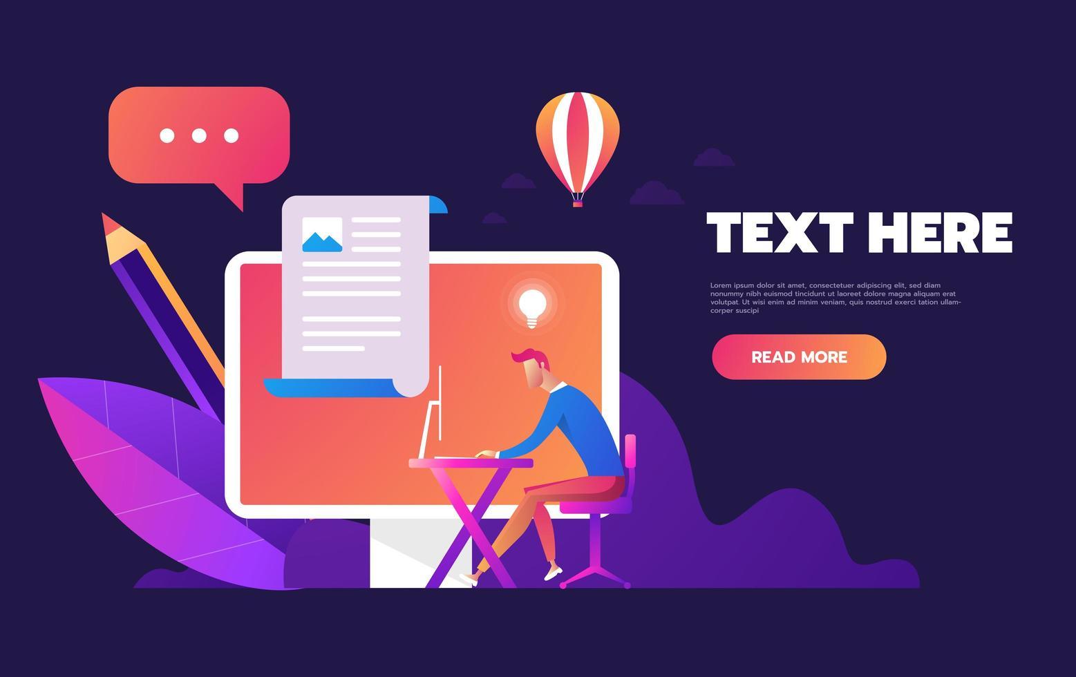 página de login no conceito de tela do celular vetor