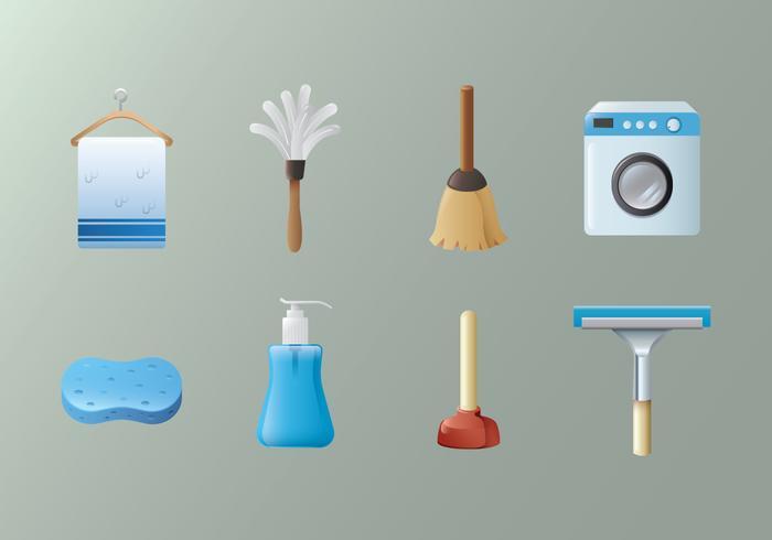 Vector de equipamentos de limpeza grátis