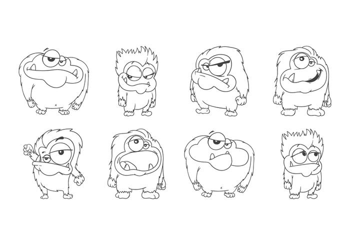 Vector de Yeti de desenhos animados grátis