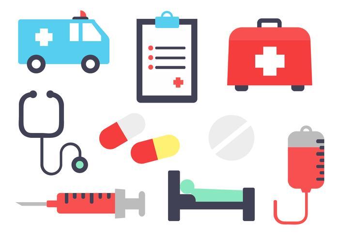 Vector de elementos hospitalares gratuitos