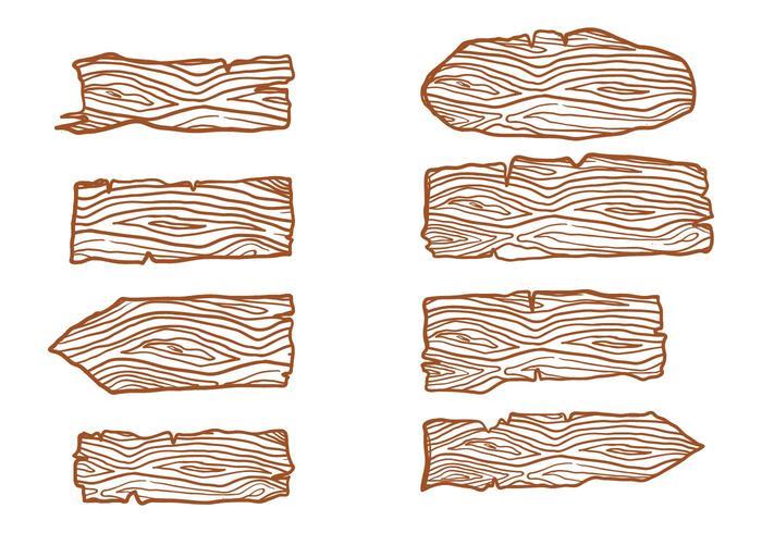 Registros de madeira grátis assinam vetores