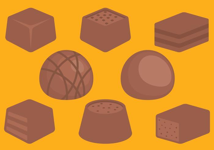 Doces de chocolate vetor