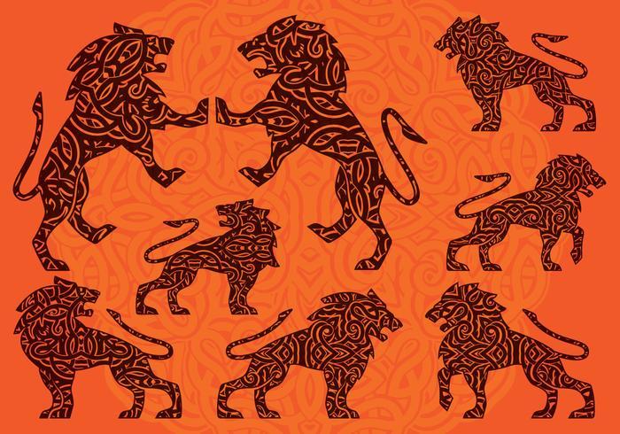 Ornamento de leão vetor