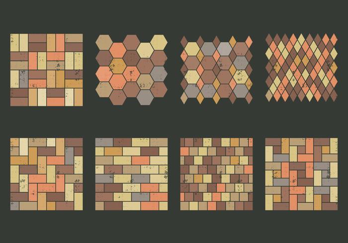 Textura de pedra de pavimentação vetor