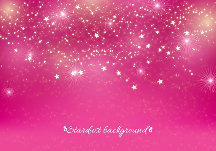 Fundo de Stardust do vetor rosa