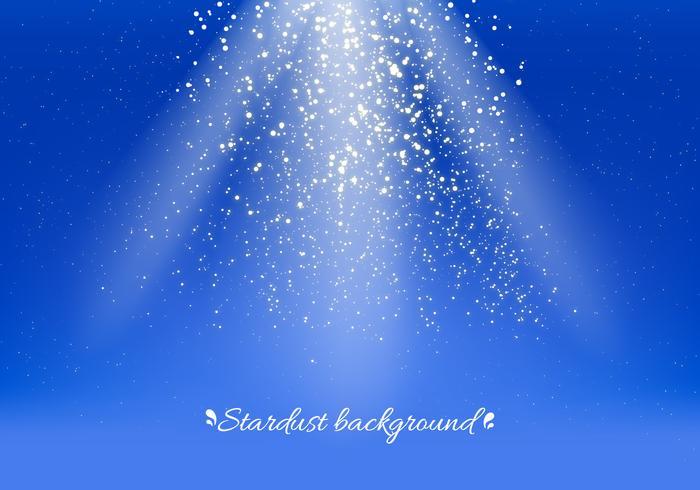 Fundo de Stardust do vetor azul