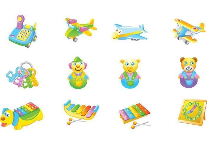 Pacote de vetores de brinquedos infantis