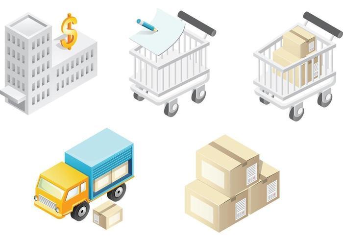 Pacote de vetores de transporte e negócios