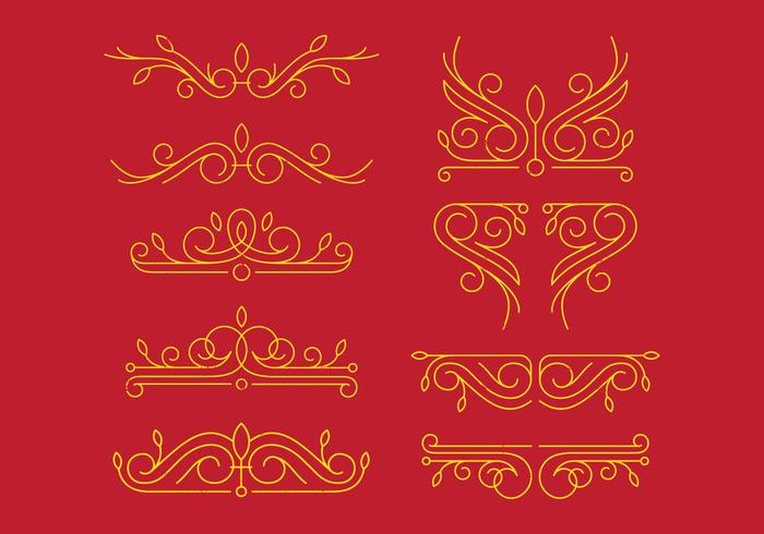 Ornamentos vitorianos vetor