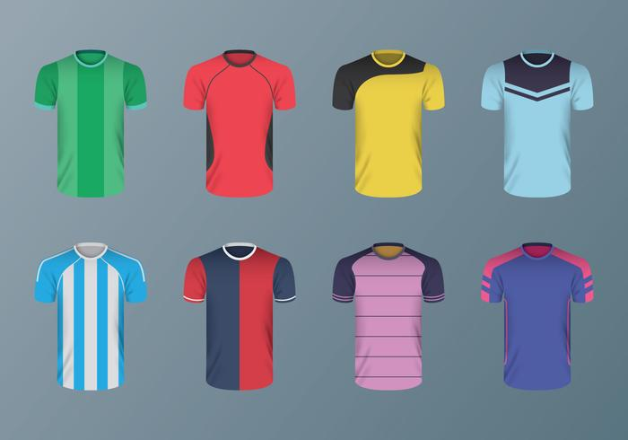 Vetores livres da camisa do futebol