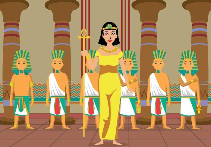 Ilustração Cleopatra grátis vetor