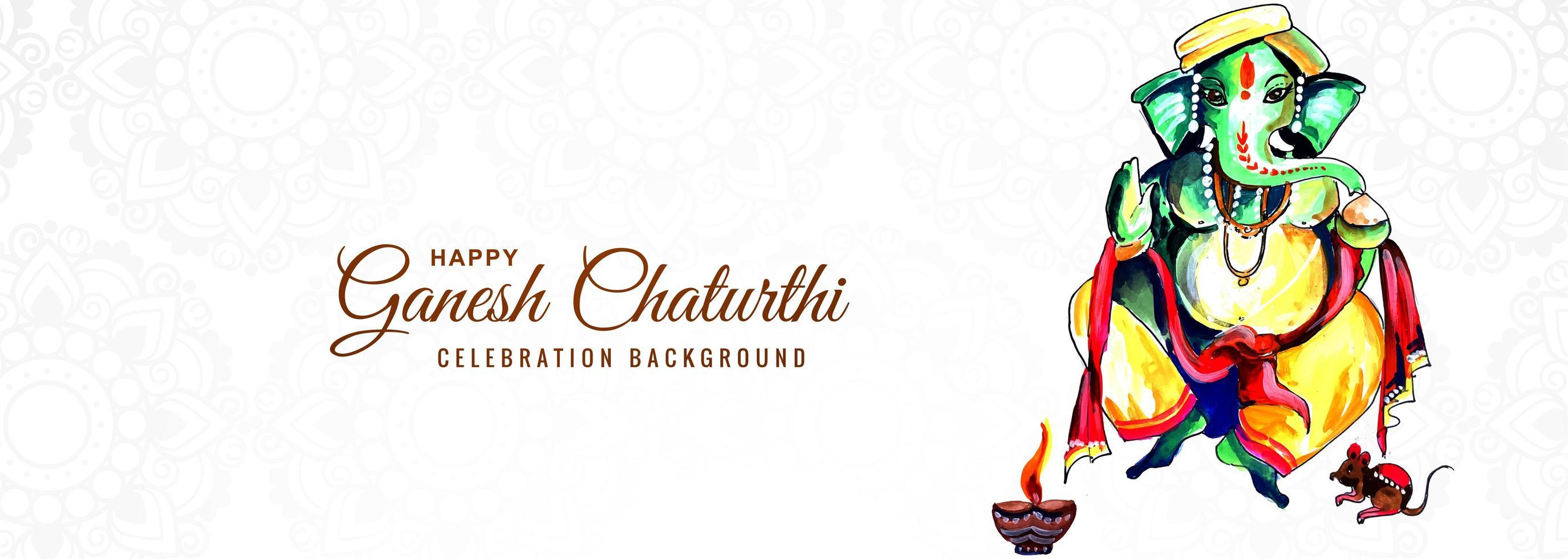 oração ao senhor ganesha pelo banner ganesh chaturthi vetor