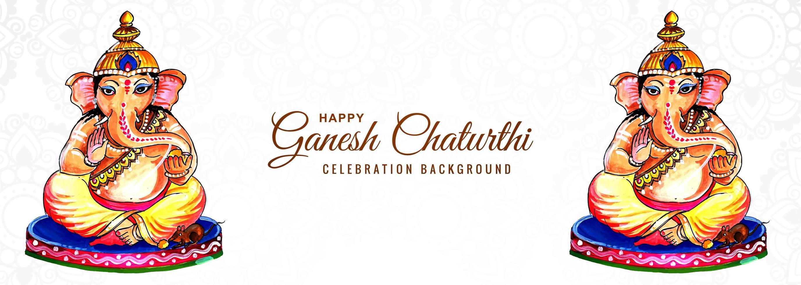 banner do festival religioso indiano ganesh chaturthi vetor