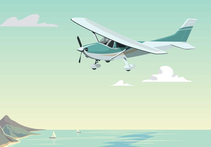 Cessna voe no dia vetor