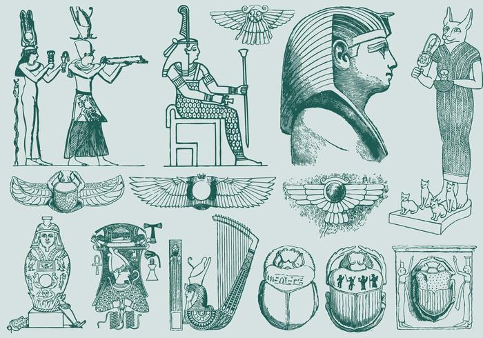 Arte Verde do Egito vetor
