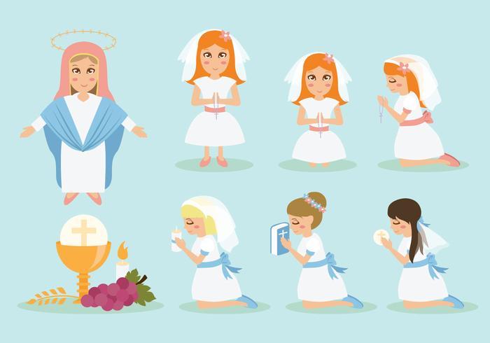 Ícones de comunhão grátis vetor