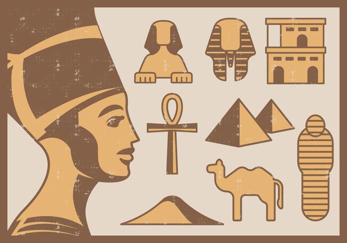 Ícones egípcios vetor