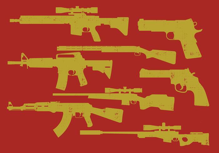 Ícones de armas vetor