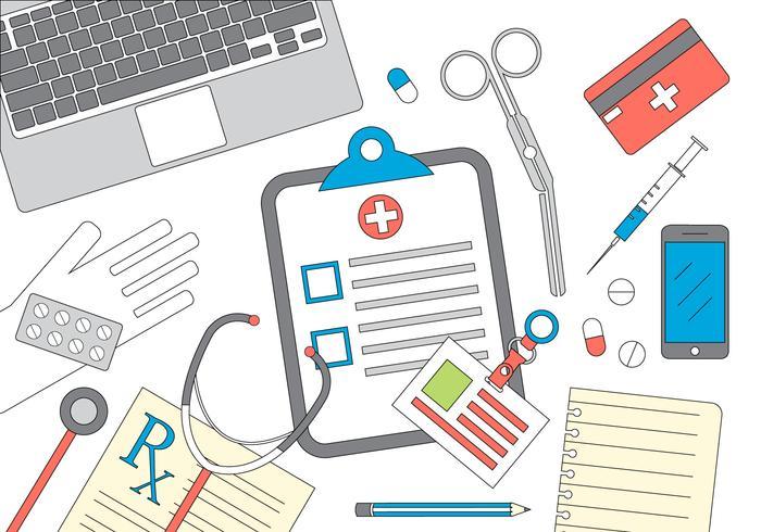 Ilustração vetorial médica vetor