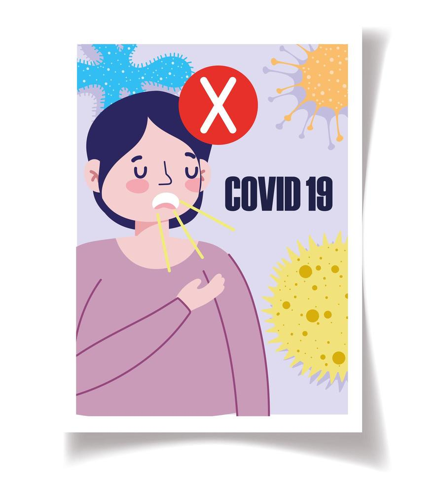 modelo de pôster de conscientização sobre coronavírus vetor
