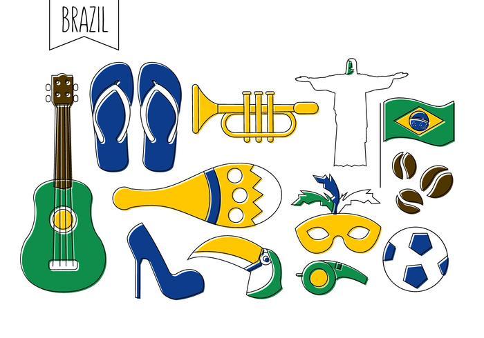Ícones de vetores brasileiros gratuitos