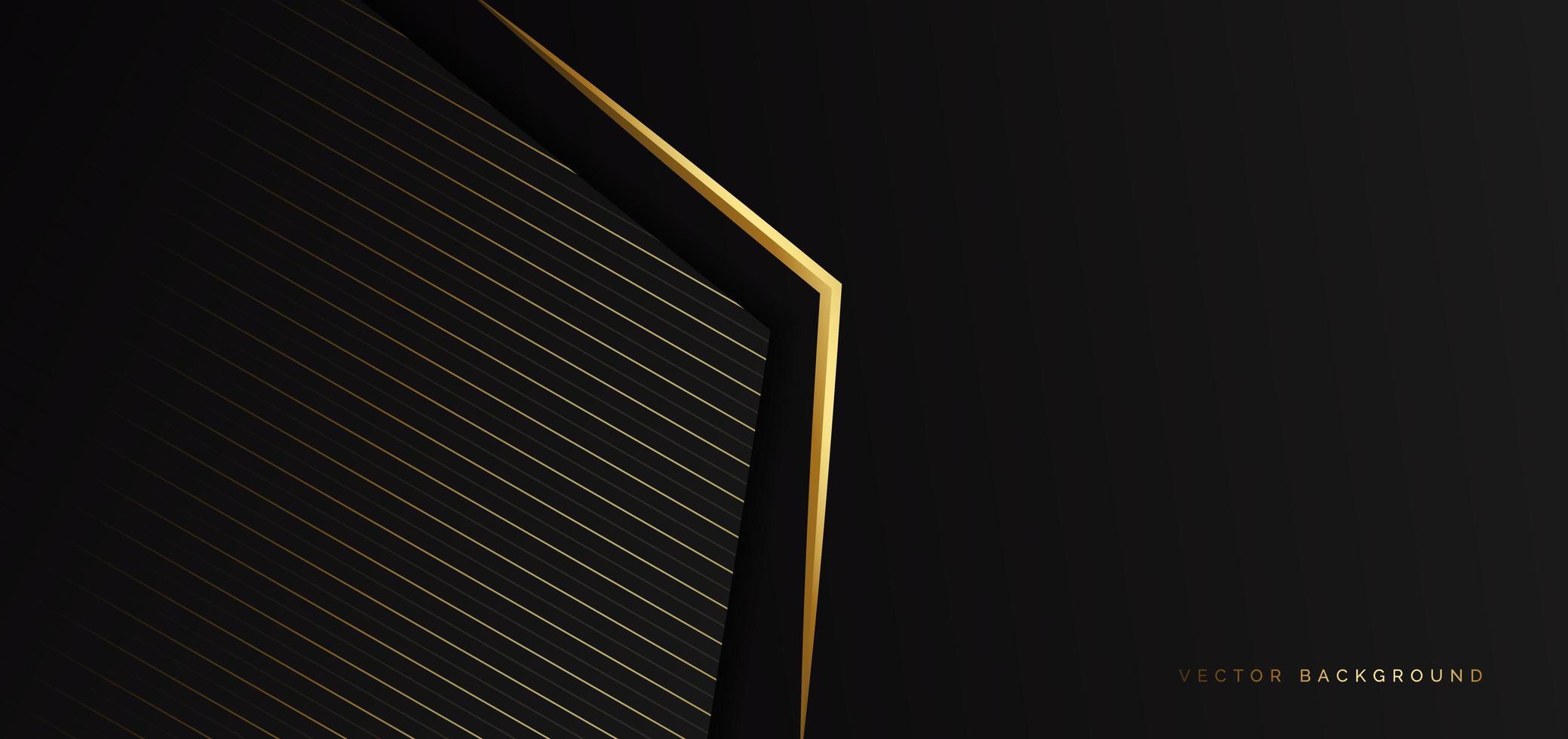 modelo abstrato de fundo de triângulo preto com linhas listradas vetor