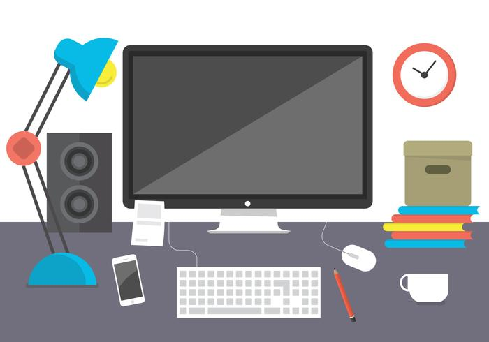 Ilustração do Vector Office