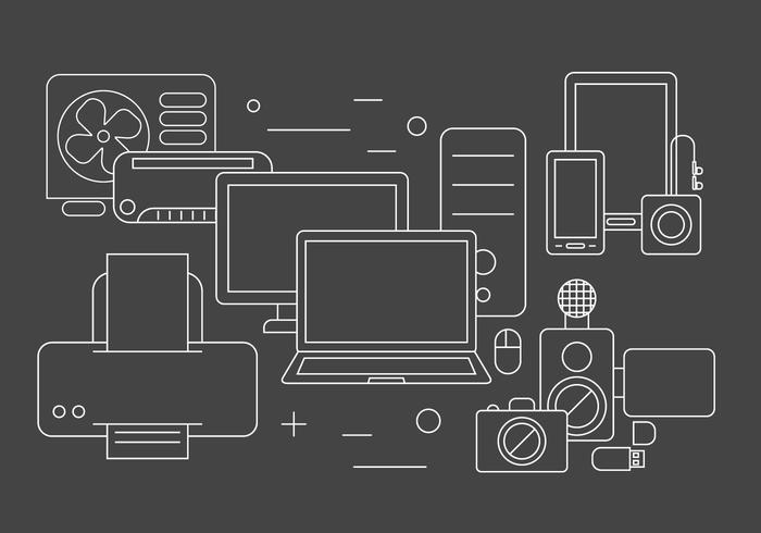 Elementos de vetor de tecnologia